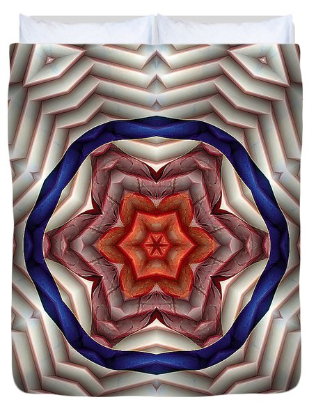 Duvet Cover featuring the digital art Mandala 12 by Terry Reynoldson