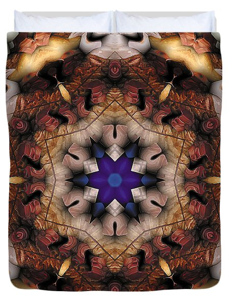 Duvet Cover featuring the digital art Mandala 16 by Terry Reynoldson