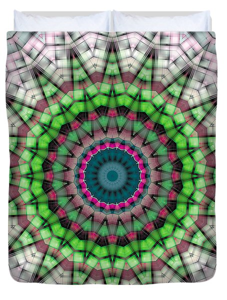 Duvet Cover featuring the digital art Mandala 26 by Terry Reynoldson