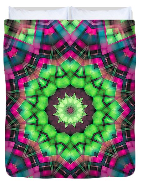 Duvet Cover featuring the digital art Mandala 29 by Terry Reynoldson