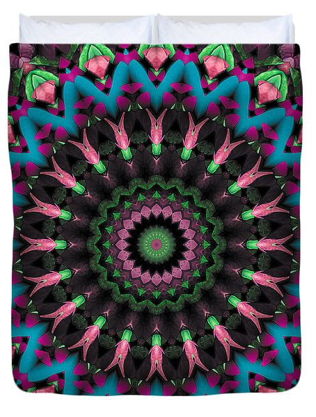 Duvet Cover featuring the digital art Mandala 35 by Terry Reynoldson