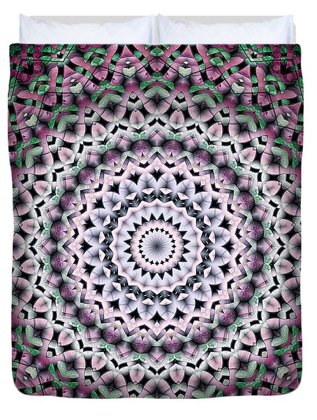 Duvet Cover featuring the digital art Mandala 38 by Terry Reynoldson