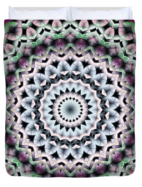 Duvet Cover featuring the digital art Mandala 40 by Terry Reynoldson