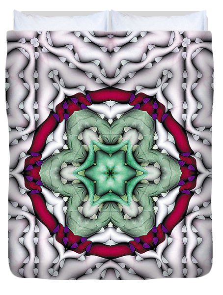 Duvet Cover featuring the photograph Mandala 7 by Terry Reynoldson