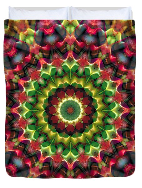 Duvet Cover featuring the digital art Mandala 70 by Terry Reynoldson