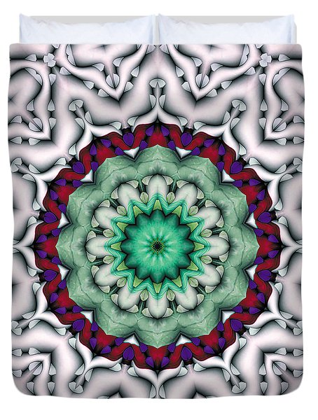 Duvet Cover featuring the digital art Mandala 8 by Terry Reynoldson