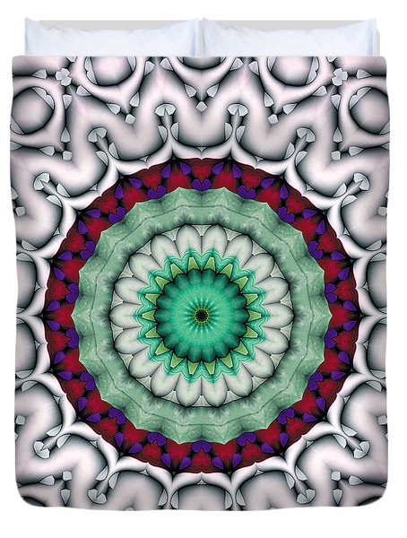 Duvet Cover featuring the digital art Mandala 9 by Terry Reynoldson