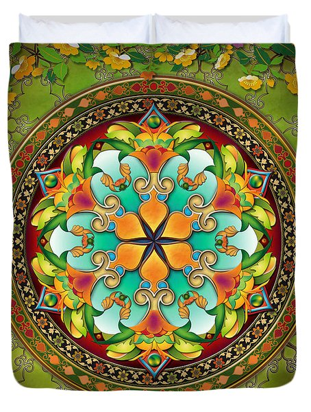 Mandala Evergreen Sp Duvet Cover
