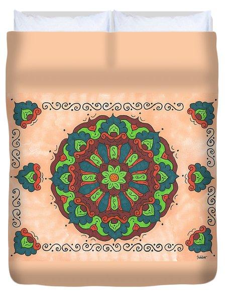 Mandala Love Duvet Cover by Susie WEBER