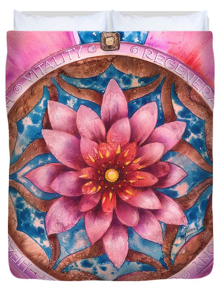 Mandala Of Health Duvet Cover