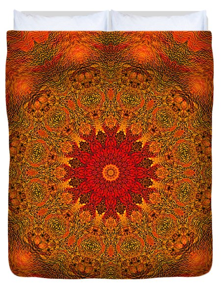 Mandala Of The Rising Sun - Spiritual Art By Giada Rossi Duvet Cover