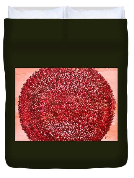 Mandala Sun Original Painting Duvet Cover