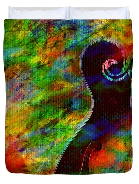 Mandolin Magic Duvet Cover