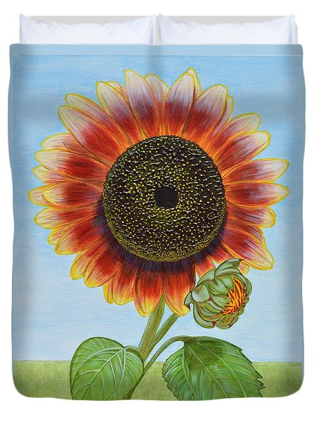 Mandy's Magnificent Sunflower Duvet Cover