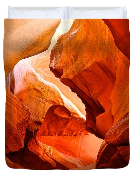 Manger Scene In Lower Antelope Canyon-az Duvet Cover by Ruth Hager