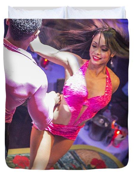 Mango's Salsa Dancer Duvet Cover
