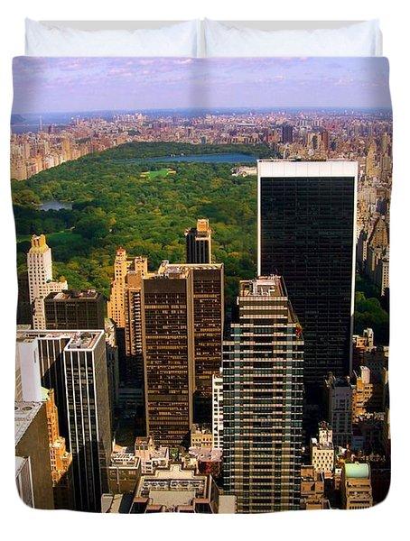 Manhattan And Central Park Duvet Cover