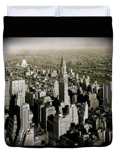 Manhattan And Chrysler Building II Duvet Cover