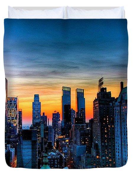 Manhattan At Sunset Duvet Cover
