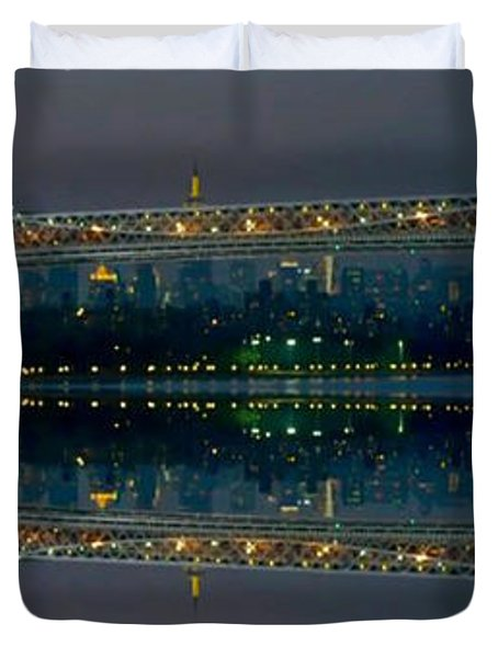 Manhattan Bridge New York Duvet Cover
