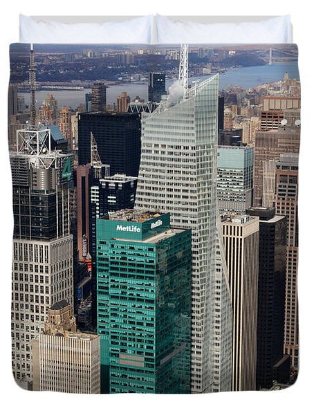 Manhattan Bryant Park Aerial Duvet Cover by Jannis Werner
