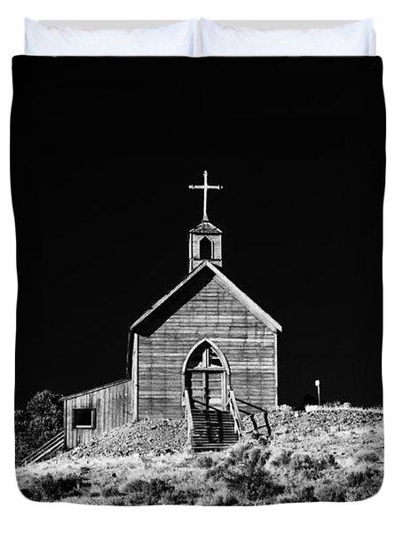 Manhattan Church Duvet Cover by Cat Connor