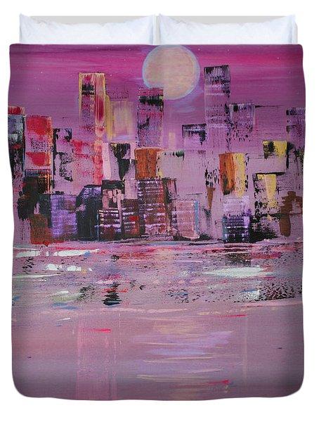Manhattan Moonshine Duvet Cover