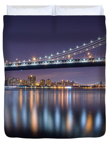Manhattan Reflections  Duvet Cover