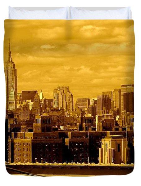 Manhattan Skyline Duvet Cover