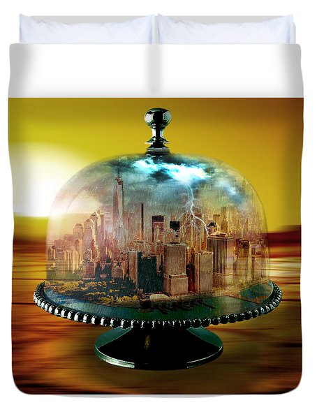 Manhattan Under The Dome Duvet Cover