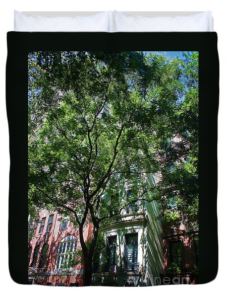 Duvet Cover featuring the photograph Manhattan Upper East Side Late Summer by Andy Prendy