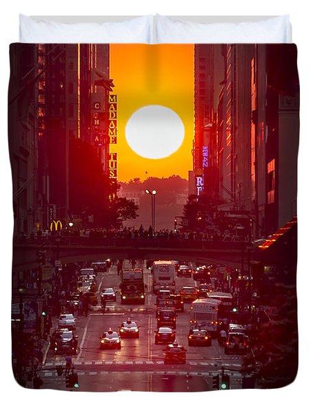 Manhattanhenge Duvet Cover