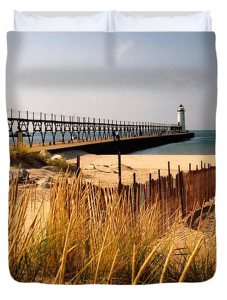 Manistee Lighthouse Duvet Cover