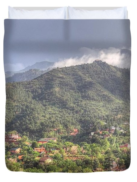 Duvet Cover featuring the photograph Manitou To The South I by Lanita Williams