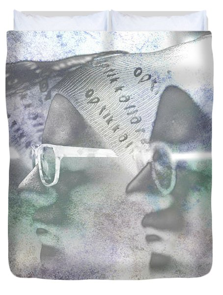 Mannequin With Glasses In Digital Art Duvet Cover by Tommytechno Sweden