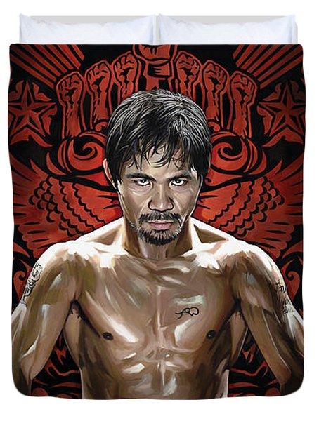 Manny Pacquiao Artwork 1 Duvet Cover