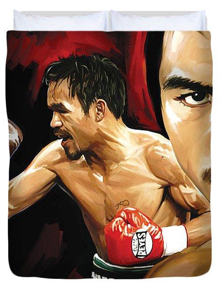 Manny Pacquiao Artwork 2 Duvet Cover