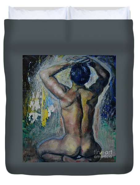Man's Back Duvet Cover
