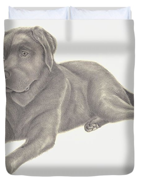 Man's Best Friend Duvet Cover by Patricia Hiltz