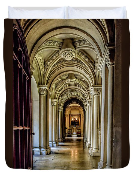 Mansion Hallway Duvet Cover by Adrian Evans