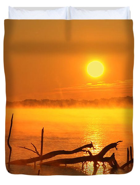 Mantis Sunrise Duvet Cover by Roger Becker