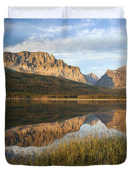 Duvet Cover featuring the photograph Many Glacier Reflections by Jack Bell