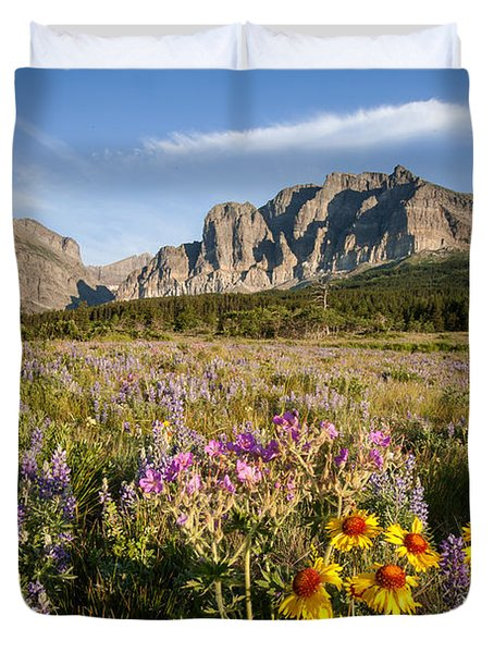 Duvet Cover featuring the photograph Many Glacier Spring by Jack Bell