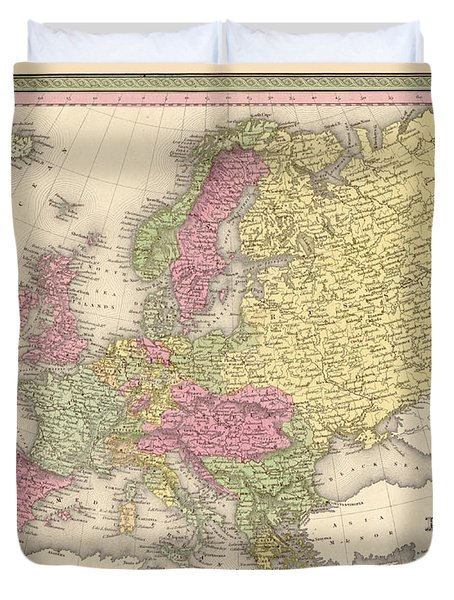 Map Of Europe Duvet Cover by Gary Grayson
