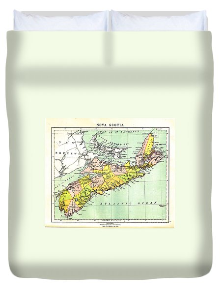 map of Nova Scotia - 1878 Duvet Cover