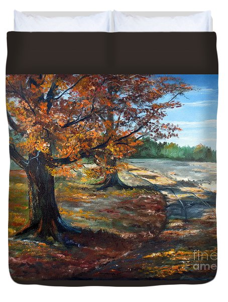Maple Lane Duvet Cover by Lee Piper
