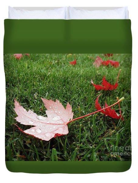 Maple Leaf In Canada Duvet Cover