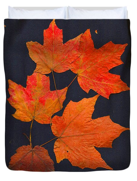 Duvet Cover featuring the photograph Maple Leaf Tag II by Joan Hartenstein