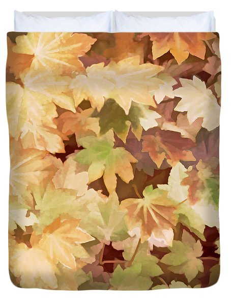 Maple Leaves Brown  Duvet Cover
