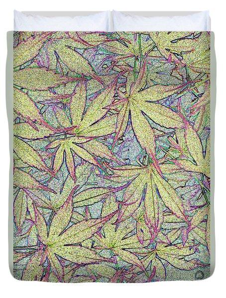 Maple Leaves No.1 Duvet Cover